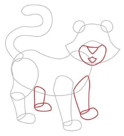 Как нарисовать тигренка поэтапно, фото 2