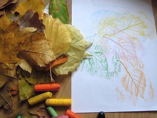 Рисование картин осенними листьями, фото 5