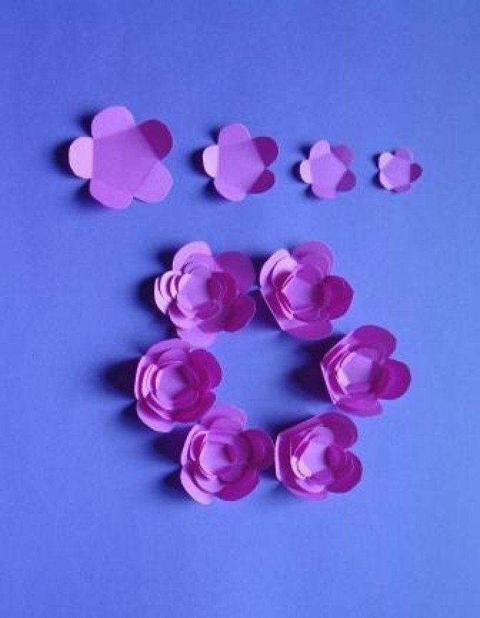 Цветы для вазочки из бумаги своими руками