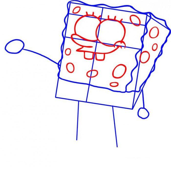 Як намалювати Губку Боба поетапно, крок 3
