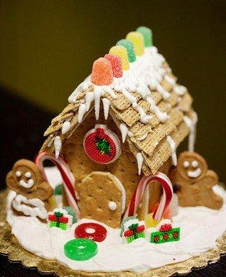Домик новогодний из печенья