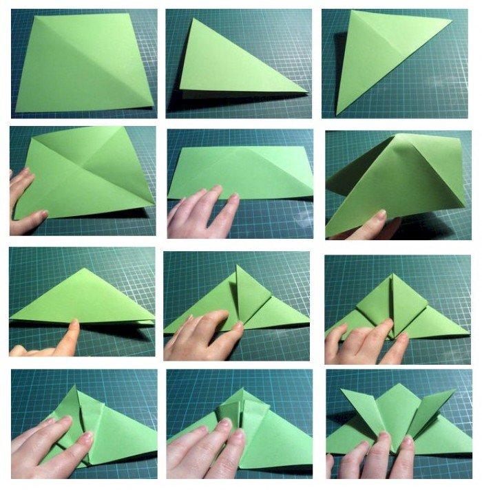 Оригами лягушка. Инструкция, фото