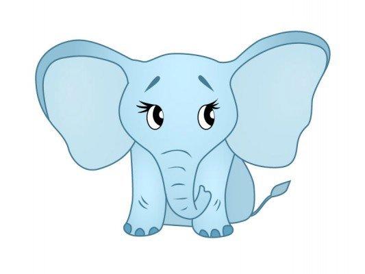 Как нарисовать слоника