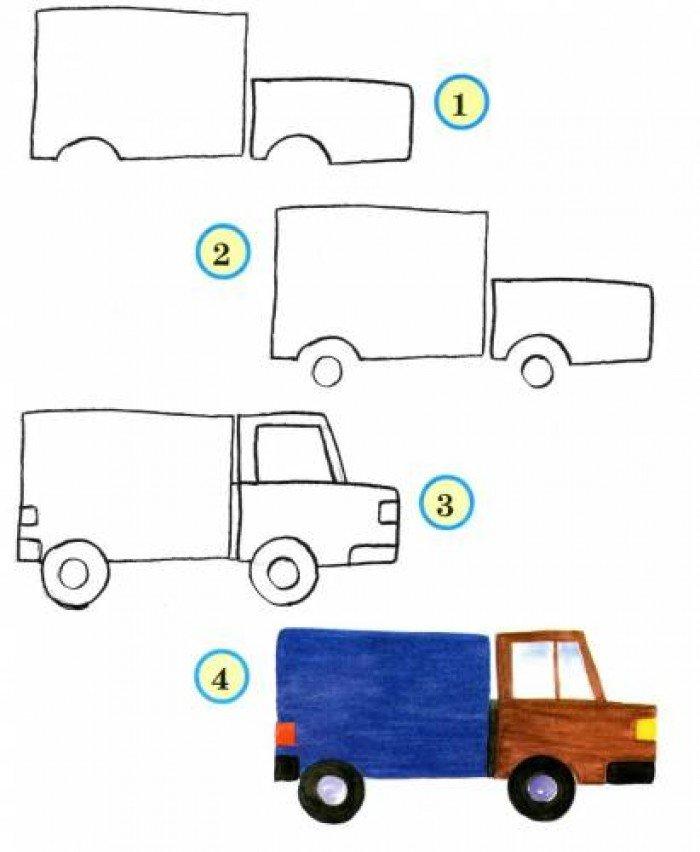 Как нарисовать фургон