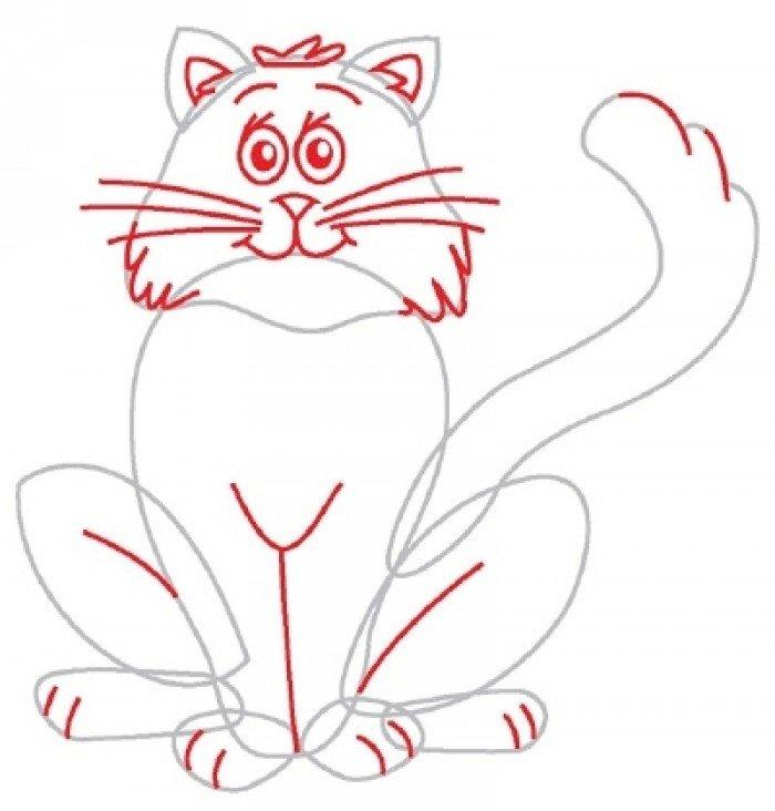 Як намалювати кота поетапно, фото 5