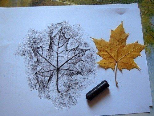 Малювання картин осіннім листям, фото 4