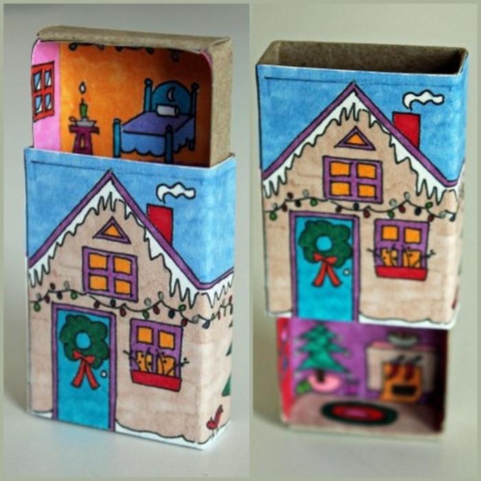 Как сделать домик из спичечного коробка