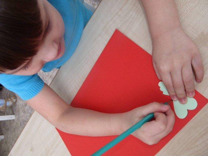 Пасхальная открытка своими руками, шаг 2