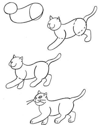 Как нарисовать котенка поэтапно, фото 14