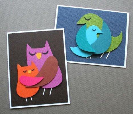Птичья открытка для заботливой мамочки