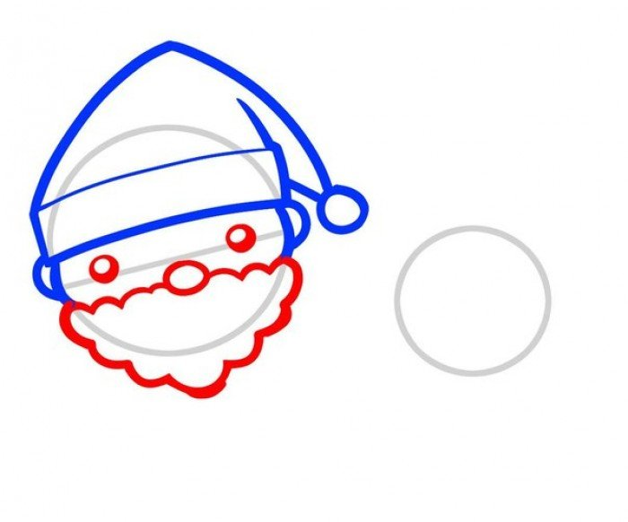 Як намалювати Санта Клауса поетапно, фото 3