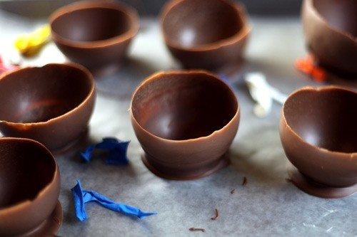 Шоколадные корзинки своими руками - фото 3