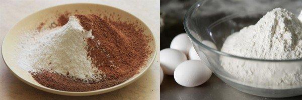 Ингредиенты для приготовления шоколадных блинчиков