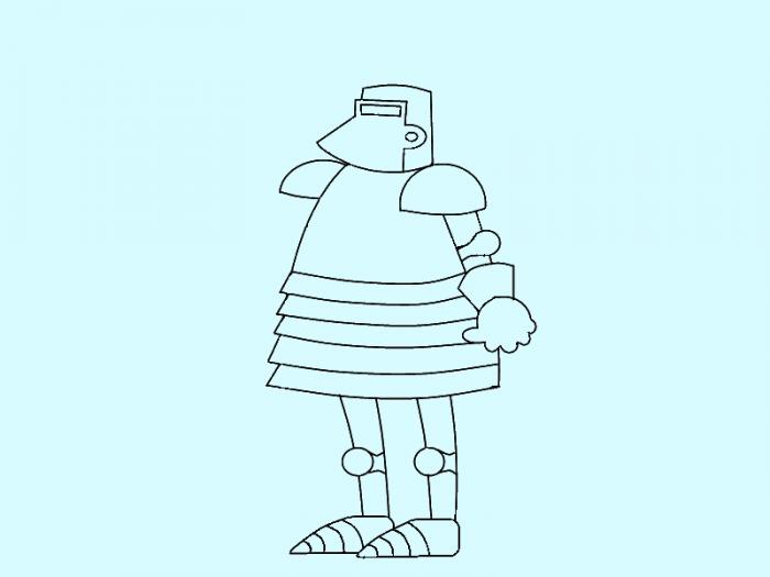 Как нарисовать рыцаря поэтапно, фото 8
