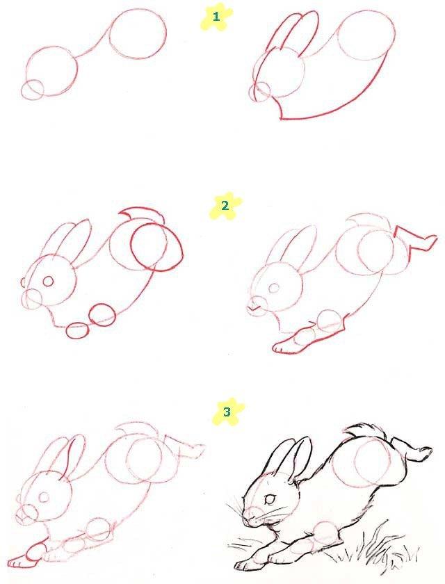 Як намалювати зайчика поетапно, фото 11