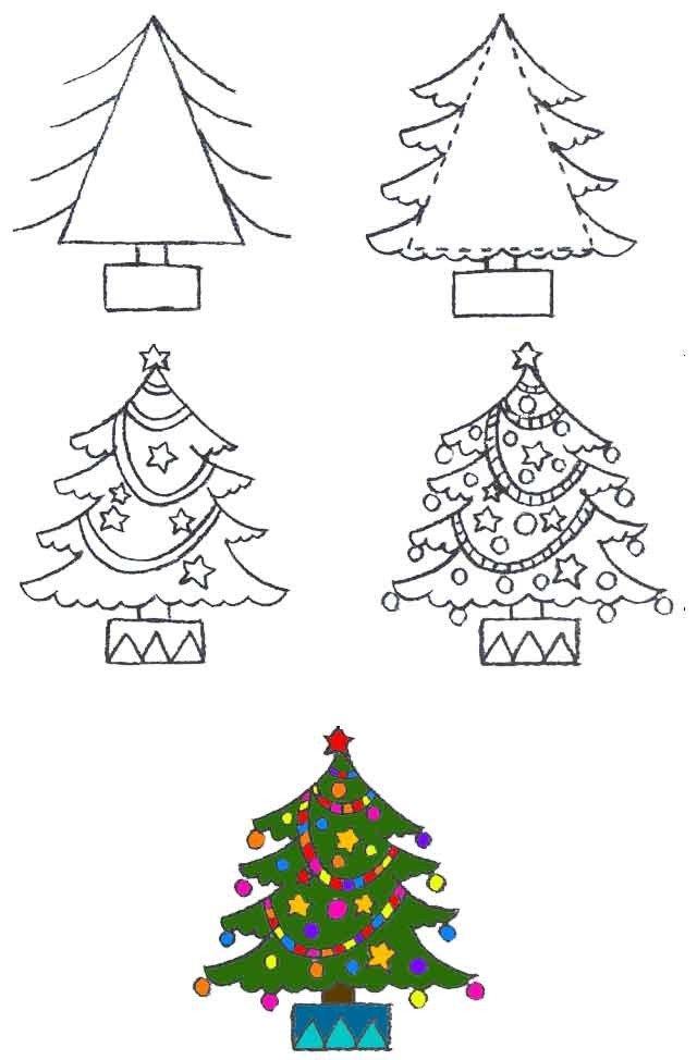 Как нарисовать елку, фото 15