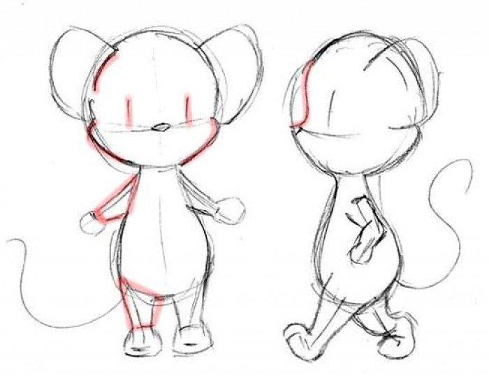 Как нарисовать мышку поэтапно, фото 19
