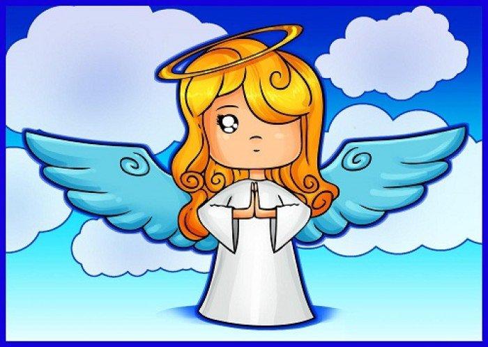 Как нарисовать ангела схема 2, шаг 7