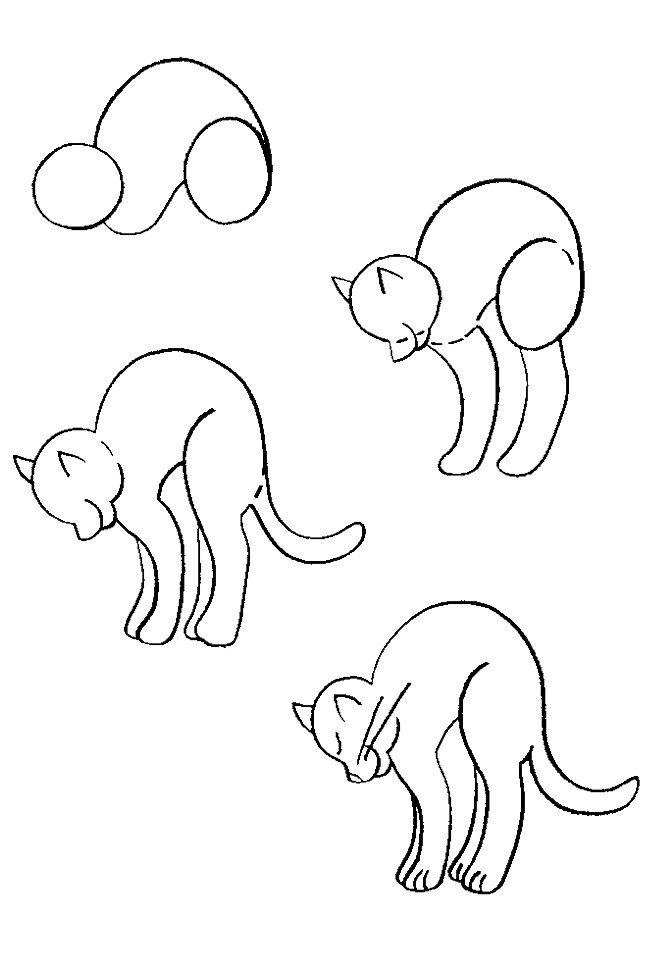 Как нарисовать котенка поэтапно, фото 15