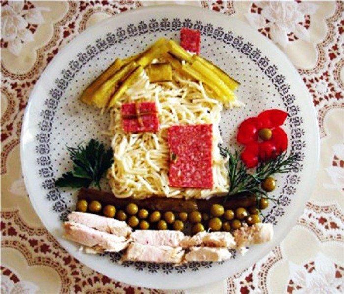 Блюда для детей, домик