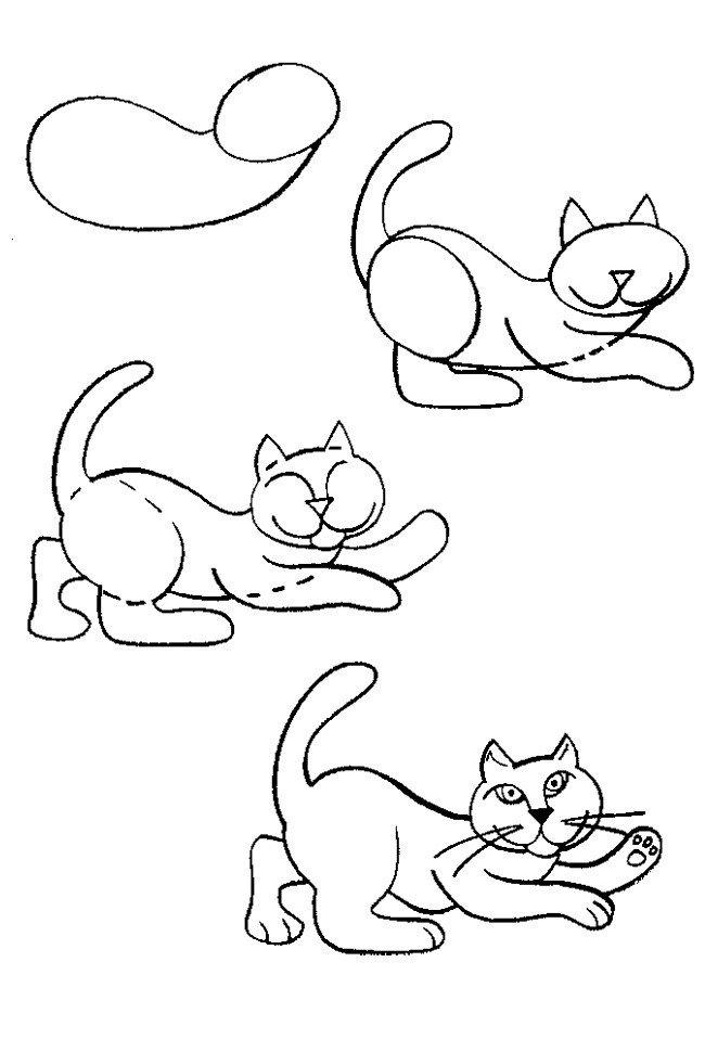 Как нарисовать котенка поэтапно, фото 13