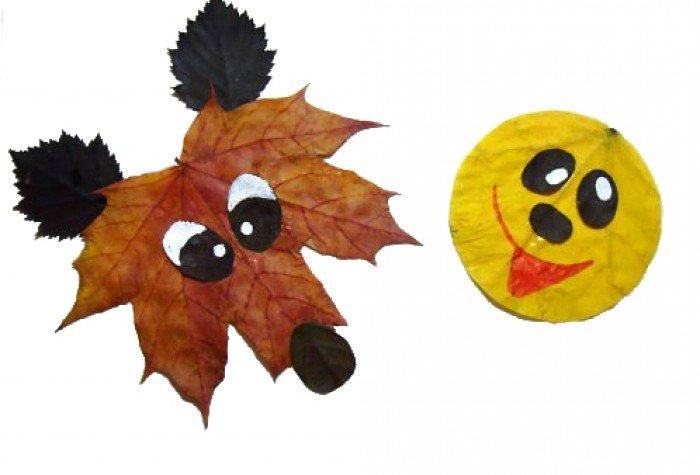 аппликация из осенних листьев, фото 16