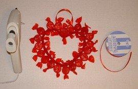 Як зробити серце з цукерок своїми руками - фото 5