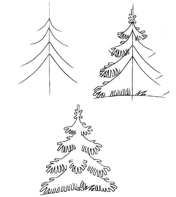 Как нарисовать елку, фото 2