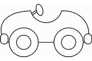 Как нарисовать машину. Схема для самых маленьких.