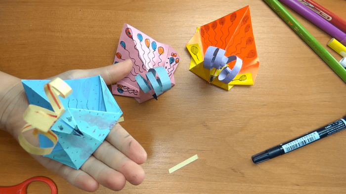 Павлин оригами