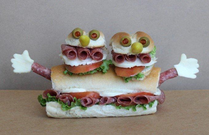 Вкусные сендвичи на завтрак. Идеи праздничных бутербродов для детей - фото 10