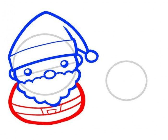 Як намалювати Санта Клауса поетапно, фото 4