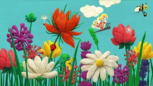 Поделки из пластилина. цветы