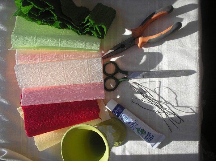 Букеты из гофрированной бумаги своими руками пошагово - фото 2