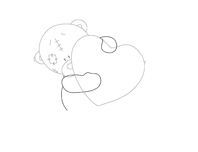 Як намалювати ведмедика Тедді, схема 1, крок 4