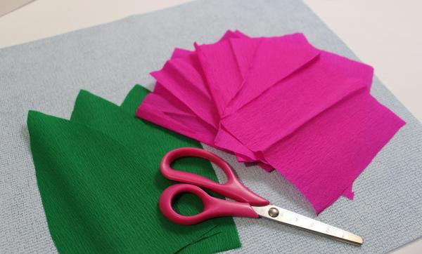 Как сделать тюльпаны из гофрированной бумаги – схема, фото 14