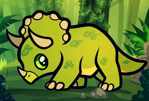 Как нарисовать динозавра Трицератопса шаг 7
