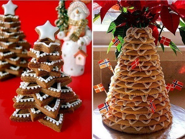 Смачна ялинка з печива - фото