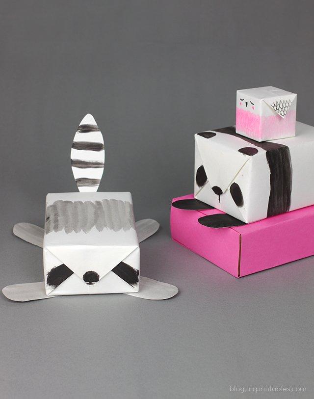 Упаковка для подарка — шедевр минимализма