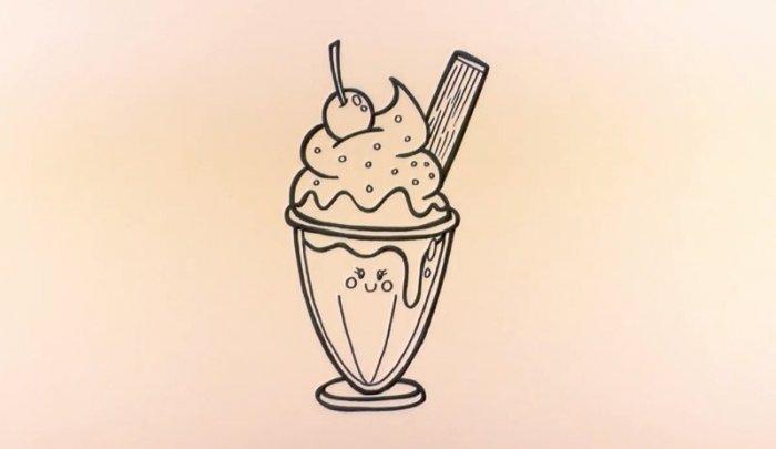 Как нарисовать мороженое