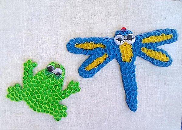 Летние поделки с детьми своими руками - мозаика из трубочек, фото 7