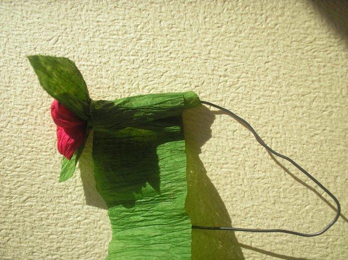 Букеты из гофрированной бумаги своими руками пошагово - фото 16