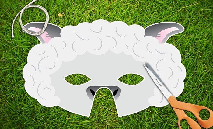 Маскарадні маски вівці з фетру своїми руками, фото 1