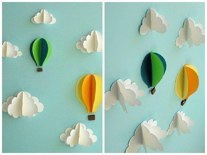 Аплікація повітряна куля з паперу фото 2