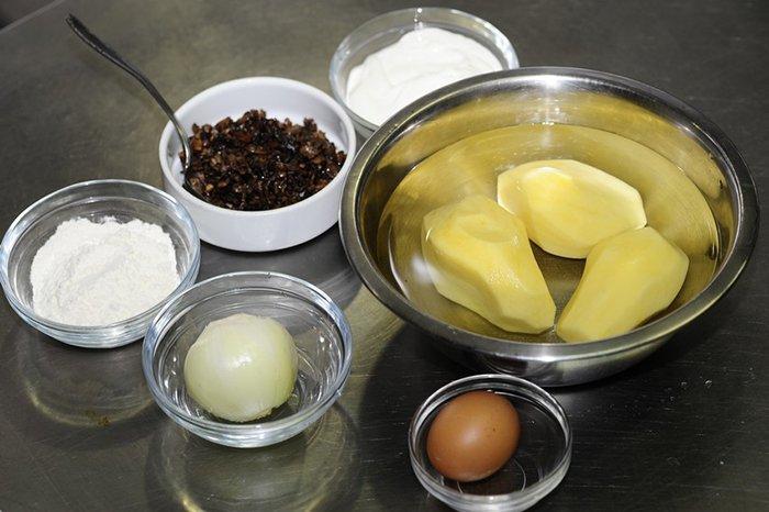Рецепт. Деруни з грибами - фото 1