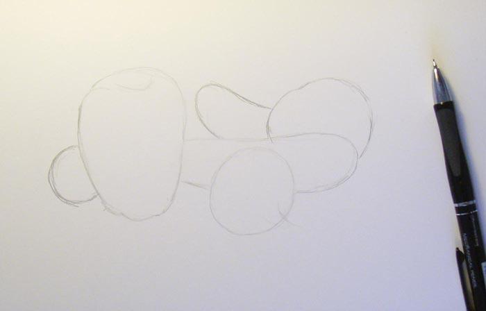 Урок рисования овощей