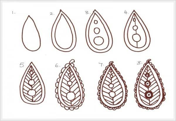 Малюємо орнамент листя крок 7