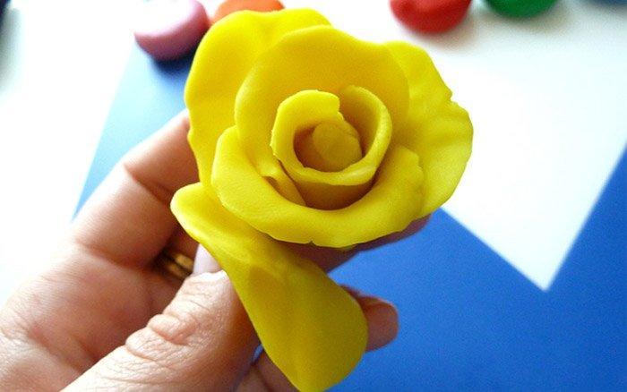 Лепим цветы из пластилина, фото 5