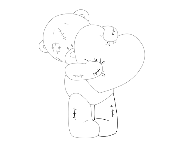 Как нарисовать мишку Тедди, шаг 6