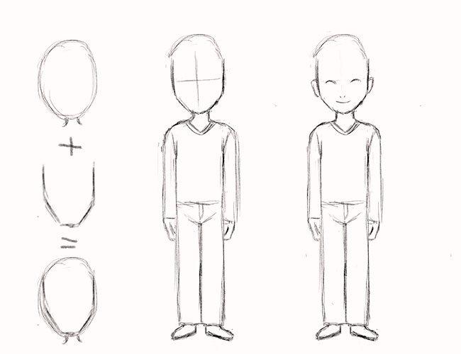 Как нарисовать мальчика, этап 4